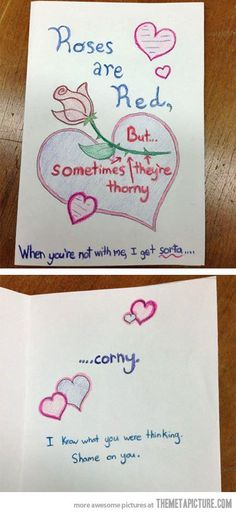 dirty homemade valentines day cards