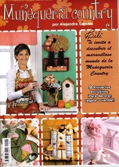 Album Archive - Muñequeria Country No. Book Crafts, Felt Crafts, Diy And Crafts, Craft Books, Painted Books, Hand Painted, Magazine Cross, Sewing Magazines, Country Quilts