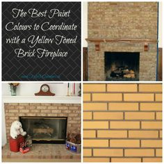The Best Paint Colours to Update and COORDINATE with Your Brick Fireplace Partner post to How to Update Your Fireplace - 4 Fireplace Update Ideas If you've been Whitewash Stone Fireplace, Update Brick Fireplace, Brick Fireplace Wall, Painted Brick Fireplaces, Fireplace Ideas, 80s Interior Design, Best Interior Paint, Interior Design Programs, Brick Interior