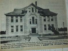 Walnut Ridge, AR School before it burnt.