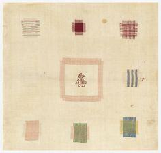 Cooper Hewitt Darning Sampler (Netherlands), 1723; silk embroidery, linen foundation; H x W: 43.2 x 44.5 cm (17 x 17 1/2 in.); Gift of Sarah Cooper Hewitt; 1929-20-34