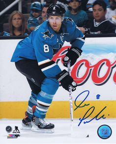 Joe Pavelski Signed 8x10 Photos! http://www.memorabiliastar.com/apps/webstore/products/show/5576257 #ice #deal #sports #display #gifts #frame #player #puck #jersey