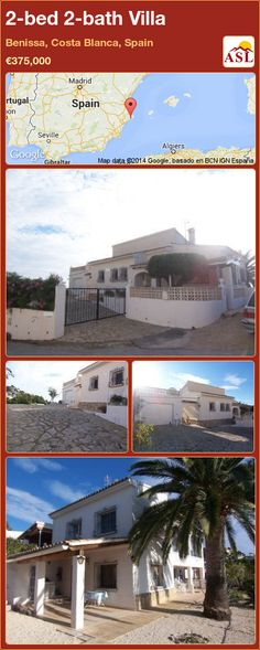 2-bed 2-bath Villa in Benissa, Costa Blanca, Spain ►€375,000 #PropertyForSaleInSpain