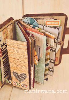 Ria Nirwana's Home Mini Albums Scrap, Mini Scrapbook Albums, Scrapbook Paper, Baby Scrapbook, Album Mini, Album Book, Journal Inspiration, Journaling, Homemade Books