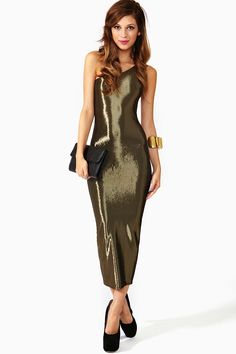 Pleeeease i can has?!  Giorgio Di Sant'Angelo One Shoulder Dress in Vintage at Nasty Gal