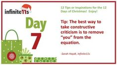 Career Advice, Constructive Criticism, Feedback #12TipsofChristmas