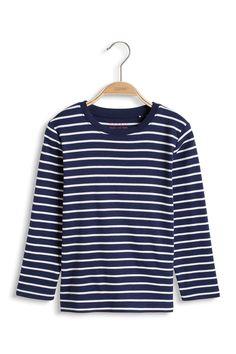 Esprit Navy Striped Long Sleeve Top 100% Cotton Machine Washable 40