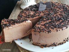 La tarta de chocolate mas rica y fácil | Caceroladas Cheesecakes, Apple Pie, Camembert Cheese, Yogurt, Recipies, Healthy Recipes, Tarta Chocolate, Chocolate Blanco, Desserts