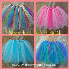 make your own diy fairy tutu skirt craft activity girls dress up role play