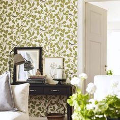Welcome to Sandberg Wallpaper. We are a Swedish design company that specialises in wallpapers and home accessories. Dining Room Wallpaper, Of Wallpaper, Designer Wallpaper, Bedroom Inspo, Bedroom Decor, Bedroom Ideas, Botanical Bedroom, Old Oak Tree, Swedish Design