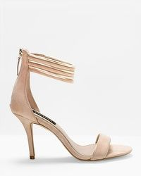 Suede Two-Piece Heels
