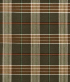 Ralph Lauren Lantern House Brown/Sage Fabric - $99 | onlinefabricstore.net