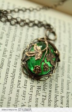 """Vintage Tooled Artisan Brass """"Fruit of the Vine"""" Czech Glass Necklace from Vintaj on Etsy. Saved to Vintaj Jewelry. Cute Jewelry, Jewelry Box, Jewelry Accessories, Jewlery, Jewelry Stand, Jewelry Holder, Leather Jewelry, Turquoise Jewelry, Crystal Jewelry"""