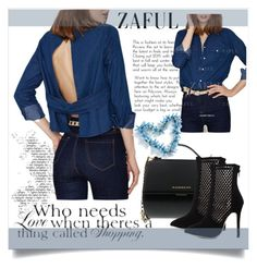 """ZAFUL '31"" by aaidaa ❤ liked on Polyvore featuring Givenchy, Therapy, women's clothing, women's fashion, women, female, woman, misses, juniors and zaful"