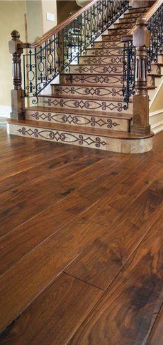 Walnut wood finished Stairway