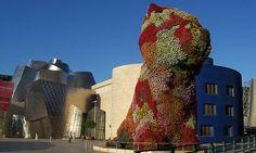 Arty Puppy in Bilbao Guggenheim Jeff Koons, Bilbao Guggenheim, Massive Dogs, Museum Architecture, Dog Sculpture, Grand Designs, Great Memories, Natural Wonders, Mount Rushmore