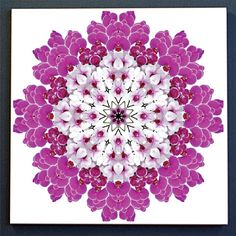 Orchid mandala ceramic tile floral trivet by RVJamesDesigns, $11.95