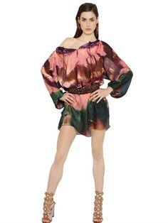 Tie & Dye Printed Silk Dress   |  ≼❃≽ @kimludcom