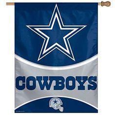 NFL Dallas Cowboys Vertical Flag 27 x 37InchLarge Black *** For more information, visit image link.