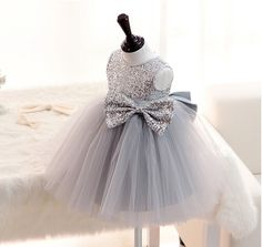 New gray Sequins sleeveless vestidos baby girls wedding dress christening baptism party gown vestido batizado-in Dresses from Mother & Kids on Aliexpress.com | Alibaba Group
