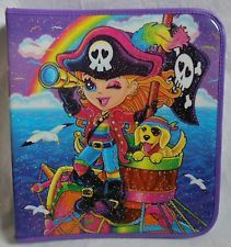 Lisa Frank Pirate Rainbow Binder