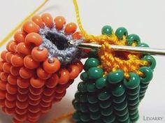 Мастер-класс по соединению двух жгутов (вязание столбиком) | biser.info - всё о бисере и бисерном творчестве