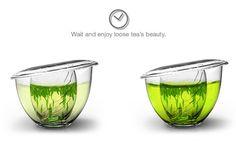 ふわりとひらく茶葉を愛でるエレガントなティーカップ/beau tea