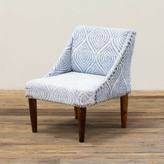 Blue Glow Upholstered Chair