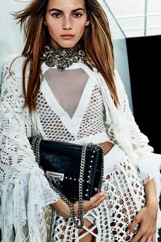 Balmain Resort 2018 Fashion Show Collection: See the complete Balmain Resort 2018 collection. Look 56 Fashion Week 2018, Fashion Mode, Fashion News, Fashion Trends, Runway Fashion, Balmain Collection, Fashion Show Collection, White Fashion, Love Fashion