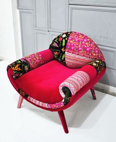 Smiley Patchwork armchair - July