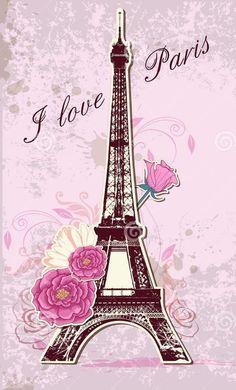 iphone 6 7 7 plus cell phone case love Paris Eiffel Tower rose flower fun Paris Kunst, Paris Art, Cute Wallpapers, Wallpaper Backgrounds, Phone Wallpapers, Thema Paris, France Wallpaper, Torre Eiffel Paris, Image Paris