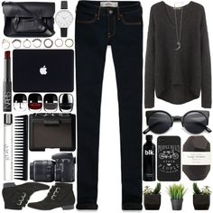 53. Darling I Know You're Sleeping by raelee-xoxo on Polyvore featuring moda, Helmut by Helmut Lang, Hollister Co., Tabitha Simmons, The Cambridge Satchel Company, Olivia Burton, Iosselliani, Pamela Love, NARS Cosmetics and philosophy
