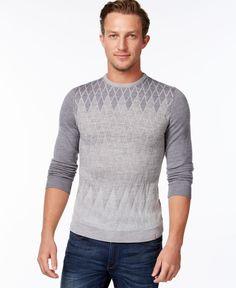 Calvin Klein Diamond Ombre Argyle Sweater