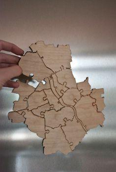 puzzle WARSZAWA magnes w by MB na DaWanda.com