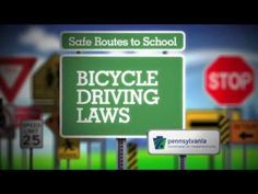 """Through Pennsylvania's Safe Routes to School program, a series of five videos promoting bicycle safety was developed. Video """"Bicycle Laws,"""" is targeted at. Bicycle Safety, Bike, School Programs, Dj, Teaching, Writing, Health, Projects, Bicycle"""