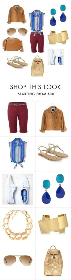 """""""Summer Weekend"""" by denise-grimes ❤ liked on Polyvore featuring LE3NO, Madewell, Moschino, Accessorize, American Eagle Outfitters, Kenneth Jay Lane, Emily & Ashley, Isabel Marant, Ray-Ban and MICHAEL Michael Kors"""