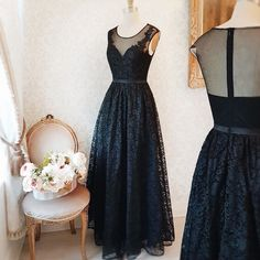 Nilla Noir #Boutique1861 - Also in burgundy - You're never wrong with a black dress ! #promdresses #bridemaids