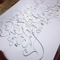 John Stevens Tattoo Lettering Fonts, Types Of Lettering, Lettering Design, Hand Lettering, Calligraphy Letters, Typography Letters, Modern Calligraphy, John Stevens, Relaxing Art