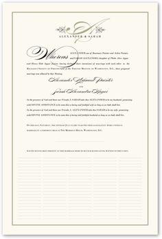 Wedding Certificate - Guestbook Alternative