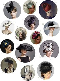 I love that the British wear hats to weddings! Now I'm all set for the Royal Wedding.