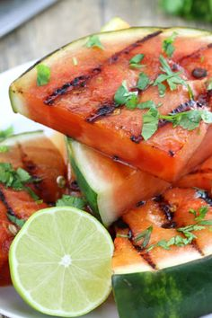 Cilantro Lime Grilled Watermelon