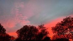 """Sky on fire #sky #fire #skyonfire #sunset #sun #clouds #trees #evening #red #redsky #autumn #fall #beautiful #amazing #wonderful #spectacular #netherlands…"""