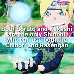 So Boruto is like OP then... This makes me laugh because I remember Naruto saying something along the lines of Borutos generation being weaker....