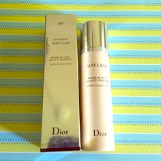 Christian Dior Diorskin Airflash Foundation in 300 USED ONCE. Beautiful coverage!! The 300 is too light for me but next color is too dark  Lasted all day. Truly looks flawless and I have uneven skin. Airbrush foundation can be applied directly, with brush or fingertips. Christian dior Makeup Foundation