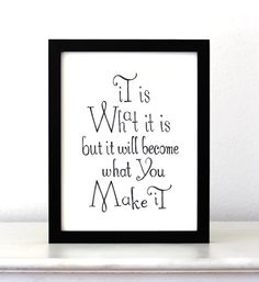 It is what it is... Quote Typographic Print Poster by SimpleSerene, $14.00