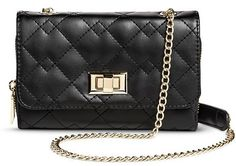 Mossimo Women's Quilted Crossbody Faux Leather Handbag