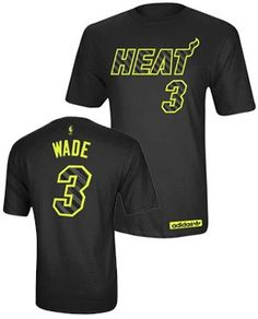 a8088f9d8 adidas Miami HEAT Dwyane Wade Kids Electricity Name and Number Tee