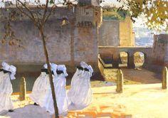 William John Leech  Irish  1881 - 1968  Les Soeurs de Saint-esprit, Concarneau