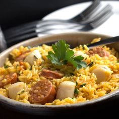 Chorizo & Scallops Paella feature2