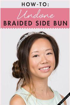 How to do a braided side bun // #festival